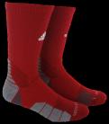 Adidas Traxion Menace Socks - Red/White - basketball