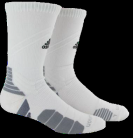 Adidas Traxion Mence Socks - White/Grey - basketball